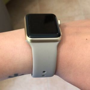 Accessories - NEW Grey Stone Silicone BAND for Apple Watch